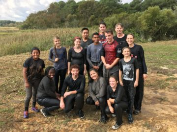 picture - students at Chincoteague Bay Field Station