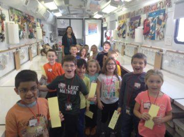Elk Lake students visit the PA Farm Bureau's Mobile Ag Lab