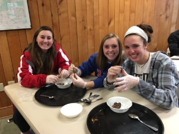 Creating edible scat at Crow's Nest Preserve