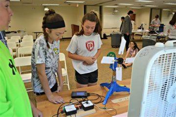 Team of students work on design of wind turbine