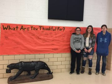 Seniors at Commodore Perry High School invite students and staff to share gratitude.