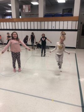 second- to fifth-grade students at Benner and Pleasant Gap elementary schools participated in the Kids Heart Challenge and Jump Rope for Heart
